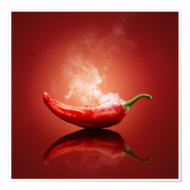 Poster  Smoking chilli - Johan Swanepoel