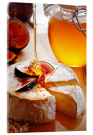 Akrylglastavla  Brie Cheese and Figs with honey - Johan Swanepoel