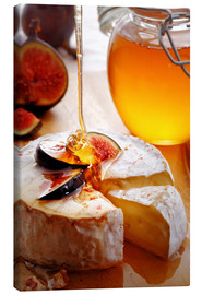 Canvastavla  Brie Cheese and Figs with honey - Johan Swanepoel