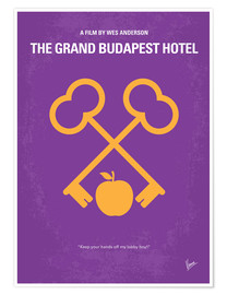 Poster  No347 My The Grand Budapest Hotel minimal movie poster - chungkong