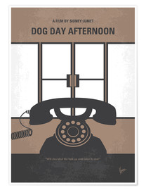 Poster No479 My Dog Day Afternoon minimal movie poster