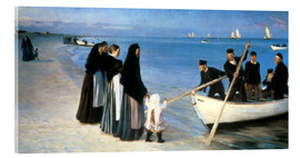 Akrylglastavla  Departure of the fishermen, Skagen - Peder Severin Krøyer