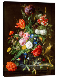 Canvastavla  Flowers piece - Jan Davidsz de Heem
