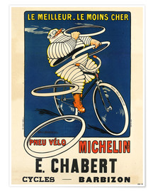 Premiumposter  Bicycle tires Michelin - H.L. Roowy