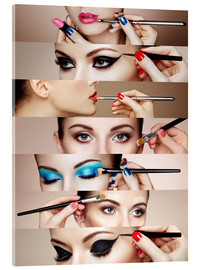 Akrylglastavla  Make-up rutin II