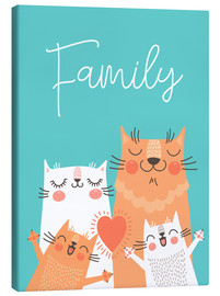 Canvastavla  Family cats - Kidz Collection