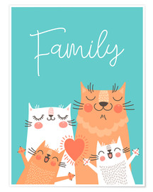 Premiumposter  Family cats - Kidz Collection