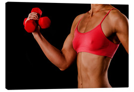 Canvastavla  Fitness woman with dumbbells