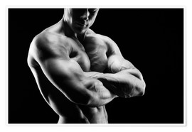 Premiumposter  Bodybuilder with arms crossed