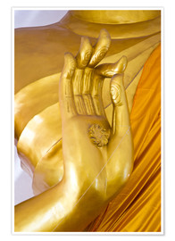 Premiumposter golden hand of God
