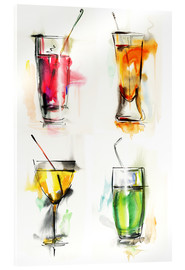 Akrylglastavla  Colorful drinks