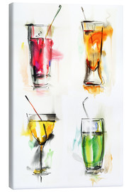 Canvastavla  Colorful drinks