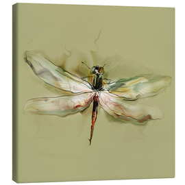 Canvastavla  Dragonfly in watercolor