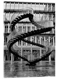 Akrylglastavla  Endless steel stairway in Munich