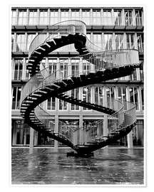 Poster  Endless steel stairway in Munich