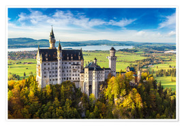 Premiumposter Neuschwanstein castle in summer