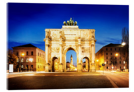 Akrylglastavla  Victory Arch in Munich at night