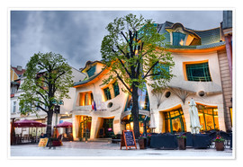Poster  Crooked house in Sopot