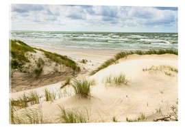 Akrylglastavla  Sand dunes on the Baltic sea