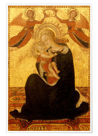 Premiumposter Madonna and Child with Angels