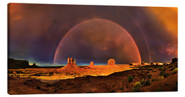 Canvastavla  Monument Valley Rainbow - Michael Rucker