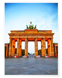 Premiumposter  Brandenburg gate at sunrise