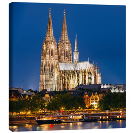 Canvastavla  Night view of Cologne Cathedral