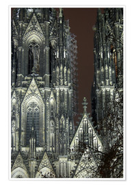 Premiumposter  Detail of Cologne Cathedral