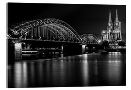 Akrylglastavla  Cologne Cathedral and bridge
