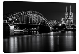 Canvastavla  Cologne Cathedral and bridge