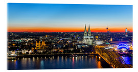 Akrylglastavla  Colorful Cologne skyline at night