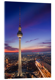 Akrylglastavla  Berlin TV Tower at night