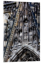 Akrylglastavla  Facades detail at Cologne Cathedral