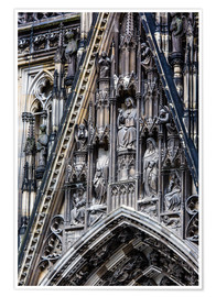Premiumposter  Facades detail at Cologne Cathedral
