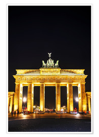 Premiumposter  Brandenburg gate (Brandenburger Tor) in Berlin