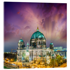 Akrylglastavla  Berliner Dom - German Cathedral at sunset