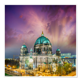 Premiumposter  Berliner Dom - German Cathedral at sunset