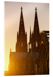Akrylglastavla  Sunset behind the Cologne Cathedral