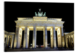 Akrylglastavla  Brandenburg Gate in Berlin by night