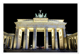 Premiumposter  Brandenburg Gate in Berlin by night