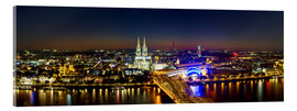 Akrylglastavla  A panoramic view of cologne at night