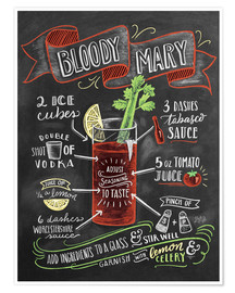 Premiumposter  Bloody Mary recept - Lily & Val