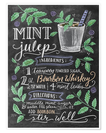 Premiumposter  Mint Julep recipe - Lily & Val