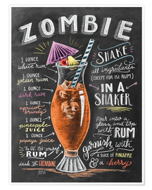 Premiumposter Zombie cocktail recept