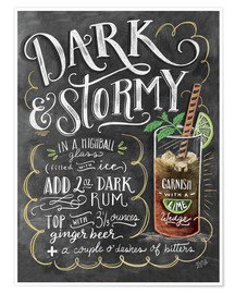 Premiumposter  Dark & Stormy Cocktail - Lily & Val