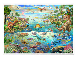 Poster  Prehistoric Paradise - Adrian Chesterman