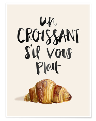 Poster Croissant (French)