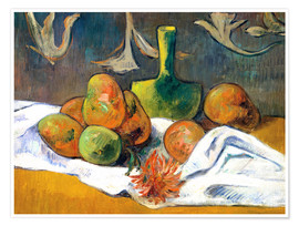 Premiumposter Still Life with Teapot and Fruit