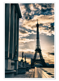 Premiumposter  Colors of Eiffel Tower in Winter