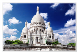Premiumposter Sacre Coeur Cathedral on Montmartre